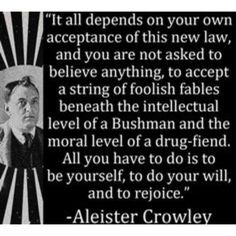 Theistic Satanism, Great Quotes, Inspirational Quotes, Motivational, Halloween Poems, Aleister Crowley, The Magicians, Magick, Philosophy
