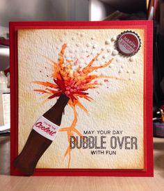 ♥ ❅ ❄ ❆ Handmade Birthday Card - Bubble Over With Fun ❆ ❄ ❅ ♥