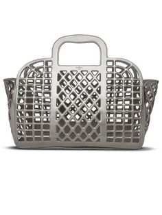 Louis Vuitton silver see through bag