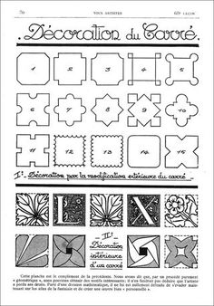 French patterns from an old French magazine