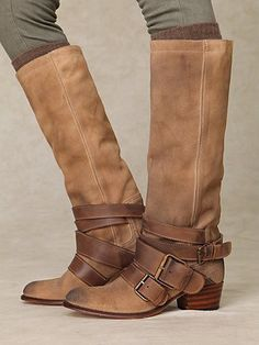 Free People Leone triple buckle boots.