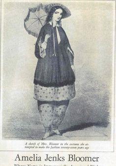 Amelia Bloomer influenzò gli anni con il suo ideale che riteneva che il corpetto fosse uno strumento di tortura, quindi propose un abbigliamento che permetesse alle donne di muoversi liberamente