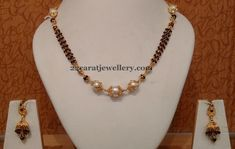 Jewellery Designs: black beads jewellery