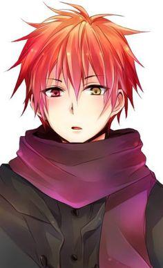 anime guy, red hair, heterochromia / odd eyes red yellow (Akashi Seijuurou Kuroko no Basket) Red Hair Anime Guy, Hot Anime Boy, Anime Hair, Cute Anime Guys, Anime Boys, Guy Hair, Anime Chibi, Manga Anime, Kawaii Anime
