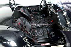 Backdraft Racing - Tuxedo Black with Black Stripes(Red Outline)