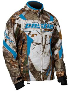 bd3aa8543e592 Castle X Racewear Bolt Realtree Womens Snowmobile Jacket Realtree/Hot Pink  MD, Women's, Size: Medium
