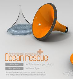 Ocean Rescue with Water Distiller by  Seol-Hee Sohn et al. Includes light, smoke signal, and location transmitter (idk how)