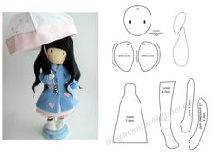 Best 12 free diy doll pattern More – SkillOfKing. Diy Doll Pattern, Plush Pattern, Felt Patterns, Stuffed Toys Patterns, Handmade Dolls Patterns, Bjd Doll, Rag Dolls, Homemade Dolls, Doll Tutorial