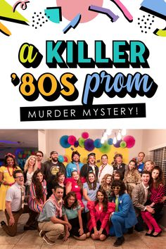 This sounds like the BEST murder mystery game! Prom in the 80s! #murdermystery #80sprom Prom Decor, Diy Party Decorations, Outdoor Party Games, Murder Mystery Games, 80s Prom, Diy Halloween Costumes, Halloween Ideas, Camera Shy, Dating Divas