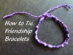 How to Tie Friendship Bracelets - Jewelry-making Techniques. , I am pleased to present this video on how to tie friendship bracelets. For more free craft projects, video tutorials and craft tips, visit . Diy Jewelry To Sell, Jewelry Making, Handmade Bracelets, Handmade Jewelry, Pandora Leather, Rainbow Loom Bands, Overhand Knot, Rope Jewelry, Silver Jewelry