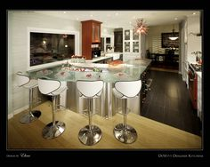 Designed by Dewitt Designer Kitchen - ThinkGlass works with designers and architects to create amazing spaces! Glass Bar, Amazing Spaces, Architects, Kitchen Design, Designers, Decor Ideas, Create, Unique, Top