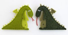 Felt dragon for princess, castle, and knight, and horse pieces flannel board Needle Felted Animals, Felt Animals, Needle Felting, Felt Dragon, Baby Dragon, Felt Gifts, Dragon Figurines, Cute Dragons, Flannel Boards