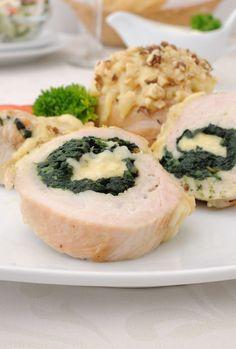 Kuracia roláda so špenátom - Recept pre každého kuchára, množstvo receptov pre pečenie a varenie. Recepty pre chutný život. Slovenské jedlá a medzinárodná kuchyňa