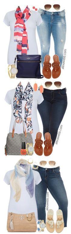 Plus Size Outfit Ideas - Plus Size Ankle Jeans {3 Ways} - Plus Size Fashion for Women - alexawebb.com #alexawebb