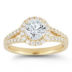 Round Brilliant 1.57 ctw VS2 Clarity H Color Diamond 18kt Yellow Gold Ring