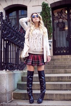 @roressclothes closet ideas #women fashion outfit #clothing style apparel Knitted Outfit Idea for Winter