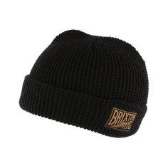Bonnet à revers Brixton Coventry Noir  #bonnet #mode #tendance #ideecadeau sur votre Boutique Headwear Hatshowroom.com #startup