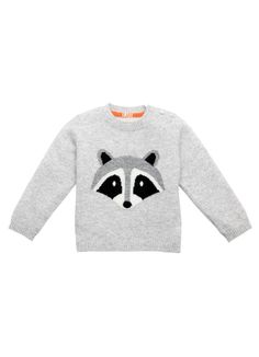 Cashmere Raccoon Sweater - BABY BOY - Products : Fawn Shoppe - Global Boutique For Unique Children's Designs