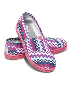 Look what I found on #zulily! Purple Zigzag Pop Canvas Classics - Youth by TOMS #zulilyfinds