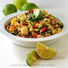 A Little Bit Crunchy A Little Bit Rock and Roll: Quinoa Salad with Black Beans and Corn