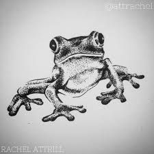 Bildergebnis für geometric frog tattoo