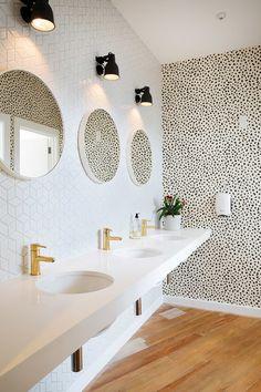 Bathroom Stall Knob moldings around center door knob on bathroom stall or dressing