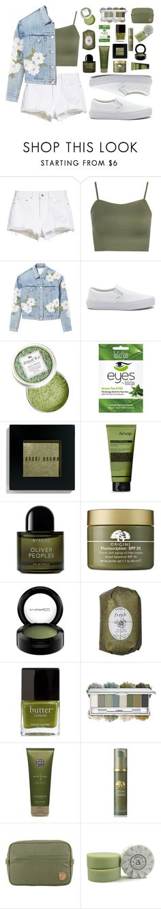 """""""We Don't Have to Wait All Night"""" by inspiredbutterfly ❤ liked on Polyvore featuring GRLFRND, WearAll, Rebecca Taylor, Vans, Bobbi Brown Cosmetics, Aesop, Byredo, Origins, MAC Cosmetics and Fresh"""