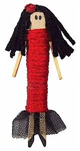 Your host children will love creating this Clothes Pin doll from Spain!