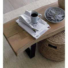 Yukon Coffee Table-Bench in Side, Coffee Tables | Crate and Barrel