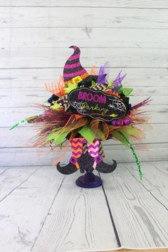 The Witch is Dead Halloween Silk Floral Arrangement