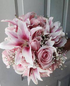 CBR181 Riviera maya weddings boda/ ramo rosa pink bouquet