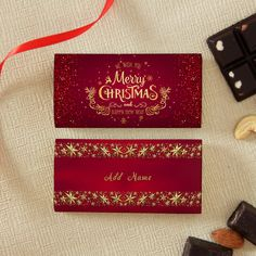 Let your gift for Christmas and new year's be most special and memorable with beautiful personalized boxes in red filled with 2 units of small nuts chocolates. Wish You Merry Christmas, Christmas Greetings, Christmas And New Year, Christmas Themes, Christmas Gifts, Online Gift Store, Online Gifts, Personalized Chocolate, Personalized Gifts