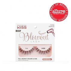 We have found all you need for falselash perfection truly. The wispy tips and different hair lengths of Kiss Blowout... #HowToCleanMakeupBrushes Makeup Brush Storage, Makeup Brush Set, Diy Nails Stickers, Hair Curlers Rollers, Fake Eyelashes, False Lashes, Volume Curls, Eyelash Sets, How To Clean Makeup Brushes