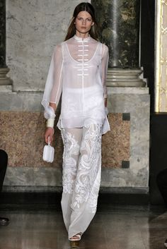 EMILIO PUCCI £5400 -UK 8-USA 6-I 40WHITE ORIENTAL TROUSERS-CHINESE DRAGON #pucci #OtherCasualTrousers