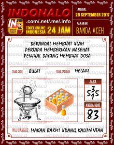 Shio 5D Togel Wap Online Indonalo Banda Aceh 20 September 2017