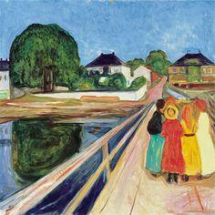 Edvard Munch Dziewczynki na moście   1902, fot. sothebys