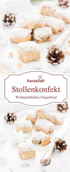 Weihnachtspltzchen besondere Weihnachtspltzchen We - christmascookies Sweets Recipes, Cookie Recipes, Mini Stollen, Sweet Bakery, Tasty, Yummy Food, World Recipes, Pavlova, Finger Foods