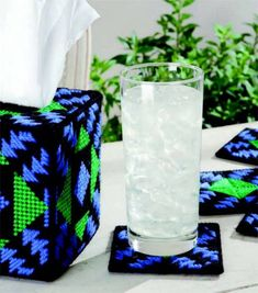 Needlepoint Tissue Box & Coasters a free download