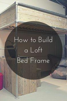 How to Build a Loft Bed Frame  #KeeKlamp #DIY #loft #bedframe