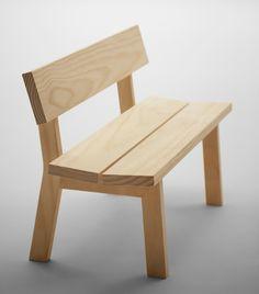 'botan' bench by jasper morrison for maruni collection 2013 Woodworking Furniture, Pallet Furniture, Furniture Projects, Furniture Plans, Rustic Furniture, Wood Projects, Furniture Design, Woodworking Plans, Woodworking Projects