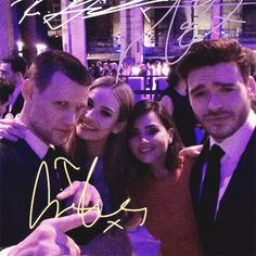 Matt Smith, Lily James, Jenna Coleman, and Richard Madden at the Cinderella after party in Berlin