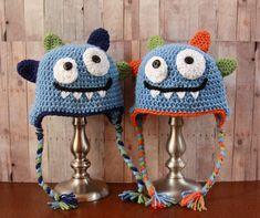 Happy+Monster+Hat++Baby+Boy+Hat++Crochet+Boys+Hat+by+CatilyCrochet,+$22.00