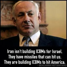 Binyamin Netanyahu on Geopolitics / HE'S RIGHT! IRAN DOESN'T NEED ICBMs FOR A COUNTRY SO CLOSE!!! IT'S US, AMERICANS IRAN WANTS TO DESTROY!