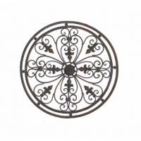 Tuscan Metal Wall Art adrianna oversized round wrought iron wall grille | powder coating
