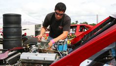 Keith Rocco's dedication behind the wheel and working on the race car produced an historic season in 2010. Courtesy of Stafford Motor Speedway
