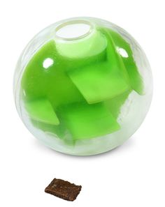 Mazee - Perplexus for Dogs : For brainy dogs. Engaging, rewarding, and fun treat toy  Designed for long-lasting play: keeps 'em busy! Pliable but tough outer shell with a maze inside