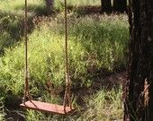 Wooden Rope Tree Swing With 25' of Rope