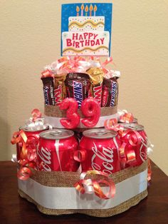 """""""Soda cake"""" fathers day day diy day food ideas day gifts from kid day cake day crafts Diy Father's Day Gifts, Diy Gifts For Friends, Father's Day Diy, Bff Gifts, Birthday Cake Gift, Birthday Gift Baskets, Diy Birthday, 16th Birthday, Birthday Beer"""