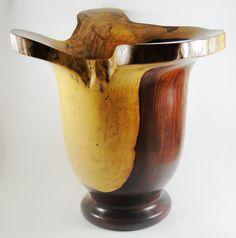 Wood Vase No.130636  Cocobolo Natural Edge by conreysa on Etsy, $225.00
