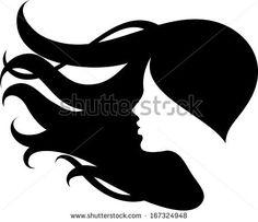 Female Head Silhouette Stock Photos, Female Head Silhouette Stock ...